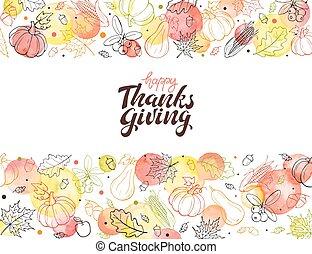 manifesto, ringraziamento, felice