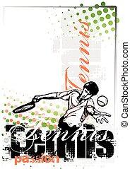 manifesto, tennis, fondo