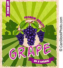 manifesto, uva, retro