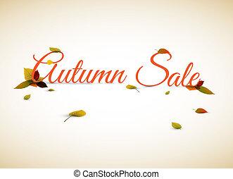 manifesto, vendita, illustrazione, autunno, vettore, /
