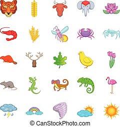 Manifold icons set, cartoon style - Manifold icons set....