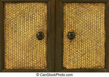 manijas, madera, puerta