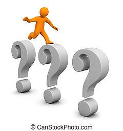 manikin, 3, spørgsmål, hop