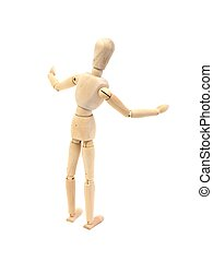 Manikin - A wooden manikin isolated on a white background