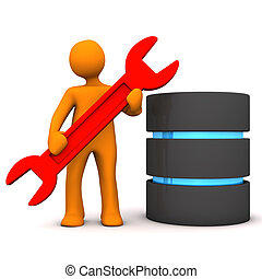 Manikin Repair Database - Orange cartoon character with...