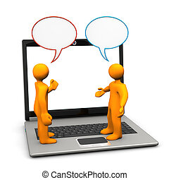 Manikins Discussion Laptop