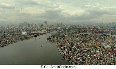 Manila city, the capital of the Philippines. - Manila city,...