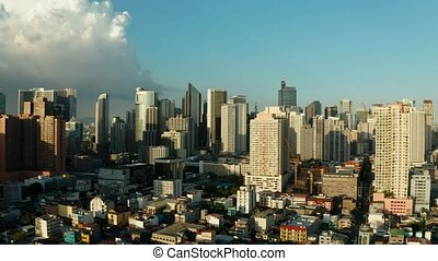 Manila city, the capital of the Philippines. - Skyscrapers...