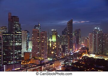 Manila night city