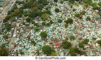 Manila North Cemetery aerial view. - Manila North Cemetery...