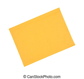 Top view of a blank padded manila envelope on a white background.