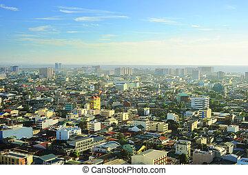 Aerial view on Metro Manila, Philippines