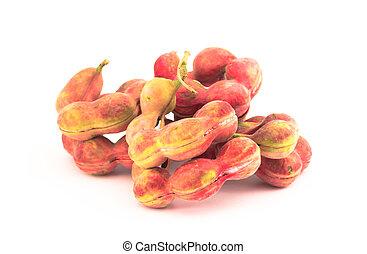 manila tamarind fruit isolated on white background