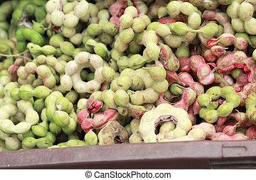 Manila tamarind in the market