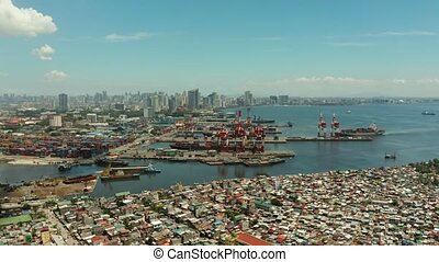 Manila, the capital of the Philippines aerial view. - Manila...