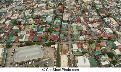 Manila, the capital of the Philippines top view. - The city...