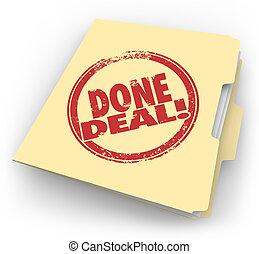 manila, trato, funcionario, venta, contrato, hecho, firmado,...
