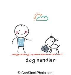 manipulador, cão