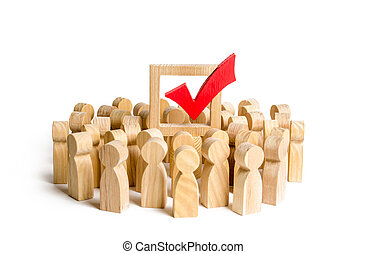 manipulation, ou, fera campagne, correct, force., décision, gens, majorité, choix, élections, society., electorate., development., populisme, démocratique, politique, soutien, droit