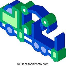 manipulator truck isometric icon vector illustration
