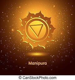Manipura chakra.  - Vector illustration of Manipura chakra.