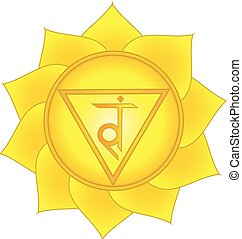 manipura., splot, trzeci, symbol, słoneczny, chakra
