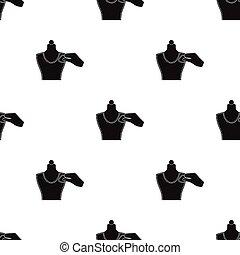 maniquí, Mancha, tela, símbolo, Costura, Costura, estilo, Ilustración, Tiza, equipo, solo,  vector, negro, icono, acción