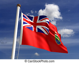 Manitoba flag Canada (isolated with clipping path)