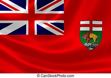 Manitoba Provincial Flag of Canada - 3D rendering of the...