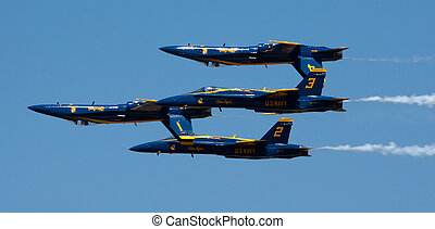 Mankato, Mn- June 9 US Navy Blue Angels in F-18 Air Show -...