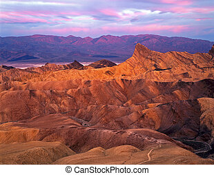 Manley Beacon photographed at sunrise from Zabrisiki Point ...