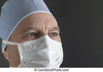 manlig, läkare