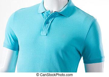 manlig, skyltdocka, in, polo, t-shirt.