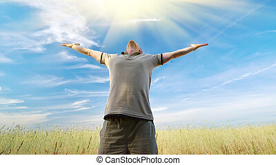 mann, anbetung