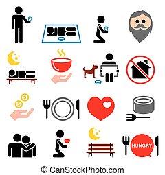 mann, andere, begriff abbilder, leute, geld, wohnungslose, gesellschaft, nein, portion, -, satz, daheim, armut, betteln
