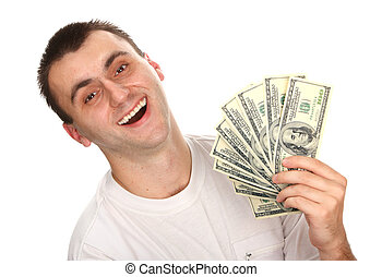 mann, besitz, dollar, geld.