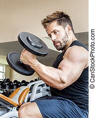 mann, bodybuilding