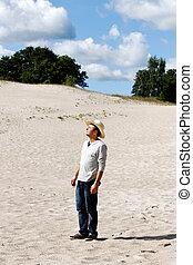 mann, dunes.