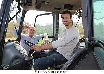 mann- fahren, traktor