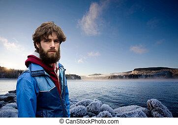 mann, fjord