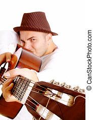 mann, gitarre