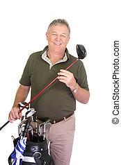 mann, halten golf- vereins