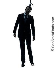 mann, henker, silhouette