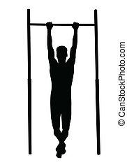 mann, heraus, arbeitende , fitness