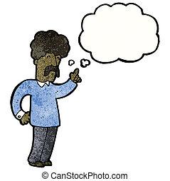 mann, idee, karikatur