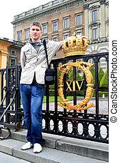 mann, junger, stockholm