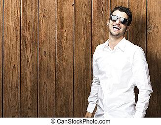 mann, lächeln, junger
