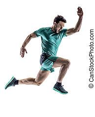 mann, läufer, jogger, rennender , freigestellt