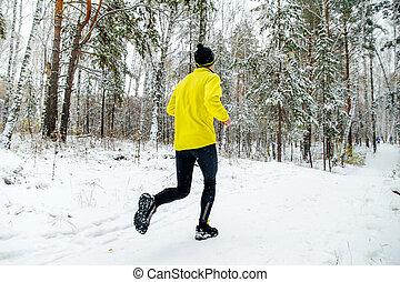 mann, läufer, rennender