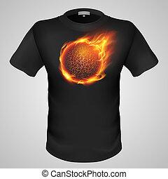 mann, print., t-shirt